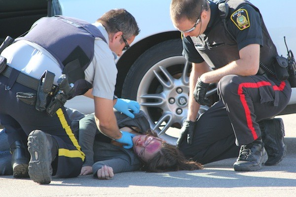 RCMP Mock Collision