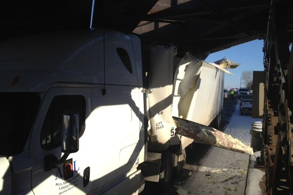 Kemnay Bridge Truck Crash