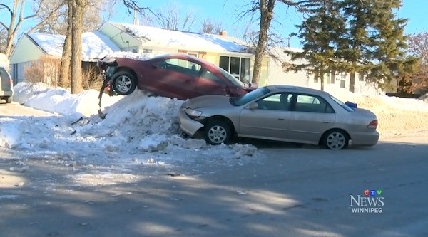 St. Vital Snowbank Crash