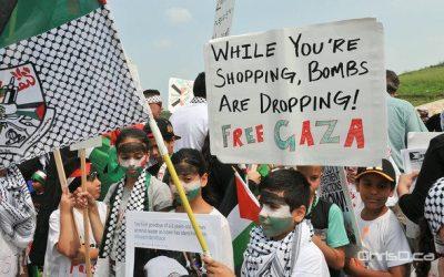 Winnipeggers Protest the Violence in Gaza