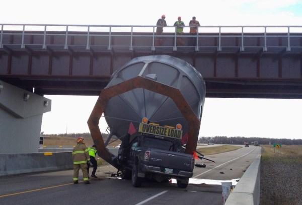 Grain Bin Truck Accident