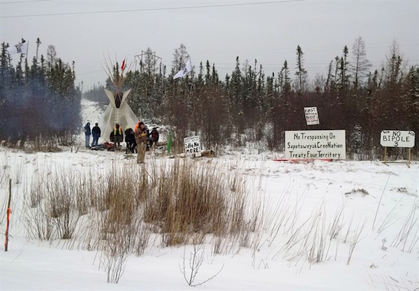 Sapotaweyak Cree Nation Blockade