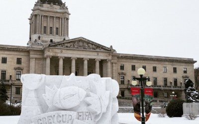 Carving Out Sportsmanship at the Manitoba Legislature
