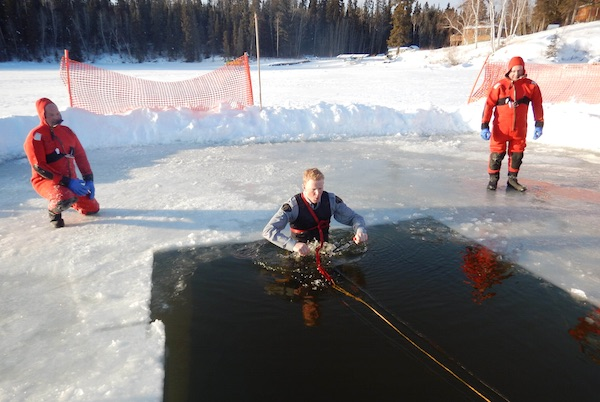 RCMP Ice Rescue Exercise