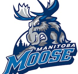 Manitoba Moose Players at Assiniboine Park Zoo on Sunday