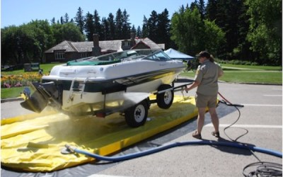 Riding Mountain National Park Monitoring Watercraft for Invasive Species