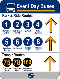 Winnipeg Transit Event Day Buses