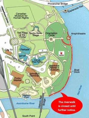 Riverwalk Map Closure