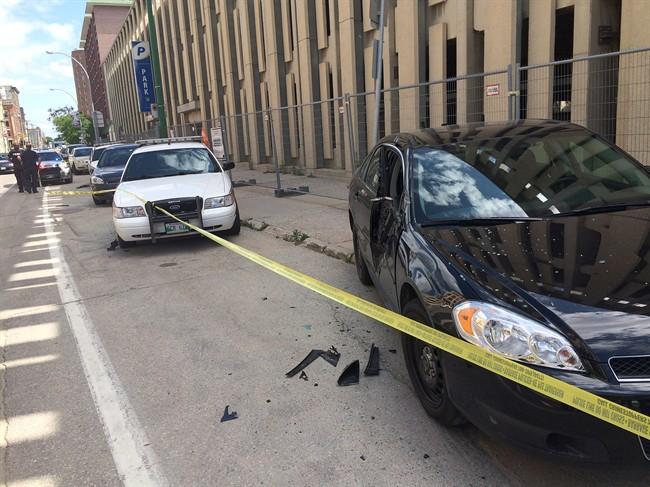 Smashed Police Cars