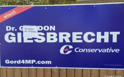 Conservative Candidate's Campaign Signs Defaced Amid Controversial Comments