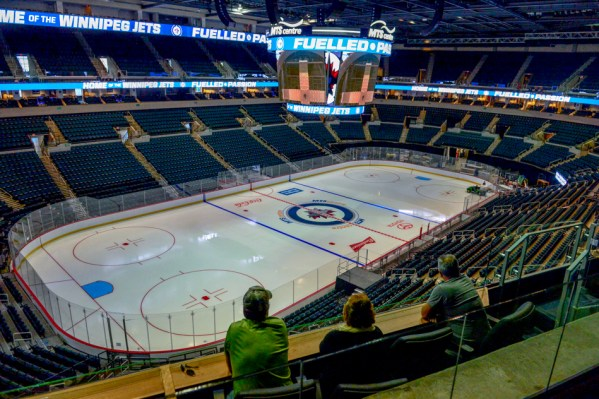 New LED rings surround the ice surface at MTS Centre. (JEFF MILLER / CHRISD.CA)