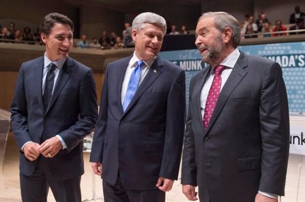 Justin Trudeau - Stephen Harper - Thomas Mulcair