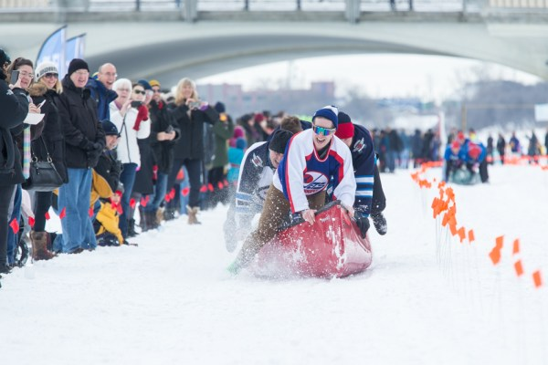 Wild Winter Canoe Race