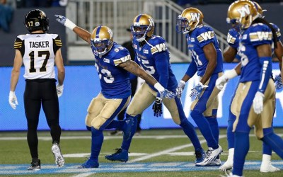Bombers Explode After Long Lightning Delay, Beat Tiger-Cats 37-11