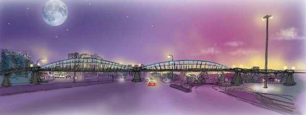 Bishop Grandin Walk Bike Bridge Over Pembina Highway