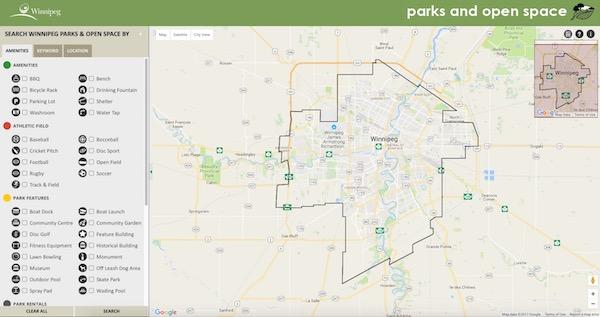 Winnipeg Parks Map
