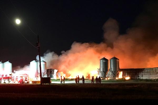 Hog Barn Fire