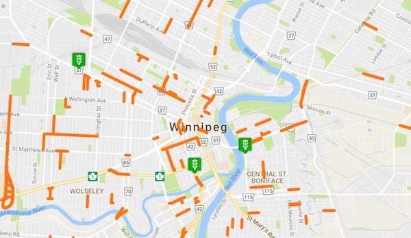Winnipeg Construction Map