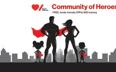 Heart and Stroke Teaching Free CPR at The Forks