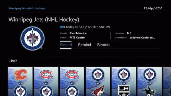 Shaw BlueSky TV - Winnipeg Jets