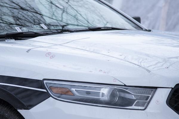 Winnipeg Police Car Shot