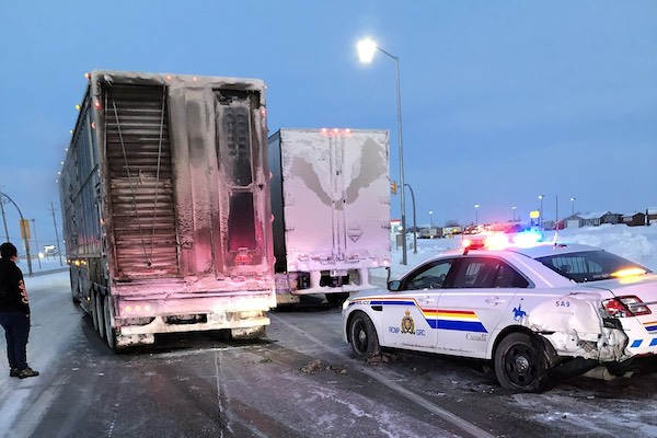 RCMP Headingley Crash