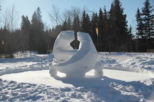 Snow Sculpture - Riding Mountain National Park