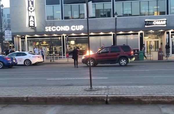 Edmonton Car Fire