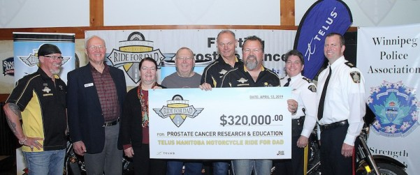 Motorcycle Ride for Dad Cheque