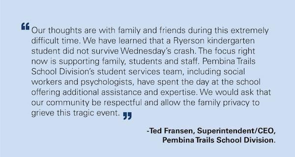 Pembina Trails Statement