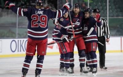 Little Scores OT Winner for Jets in 2-1 Win Over Flames in Regina's Heritage Classic