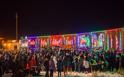 CP Holiday Train Rolling into Winnipeg December 2