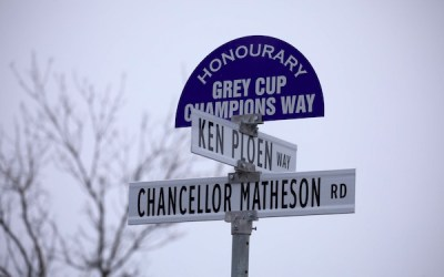 'Grey Cup Champions Way' New Address for Blue Bombers