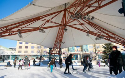 The Forks Opens Canopy Skating Rink for the Season