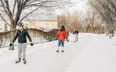 Manitoba 150 Skating Trails Open at The Forks