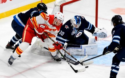 Forbort a Force for Winnipeg Jets in a 3-2 Win Over the Calgary Flames