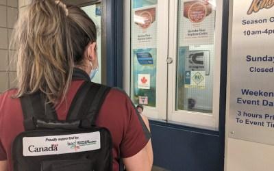Keystone Centre Using Backpack Sanitizer Sprayers in Effort to Reopen