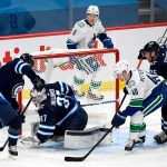 Three First-Period Goals Pace Vancouver Canucks to 4-0 Victory Over Winnipeg Jets