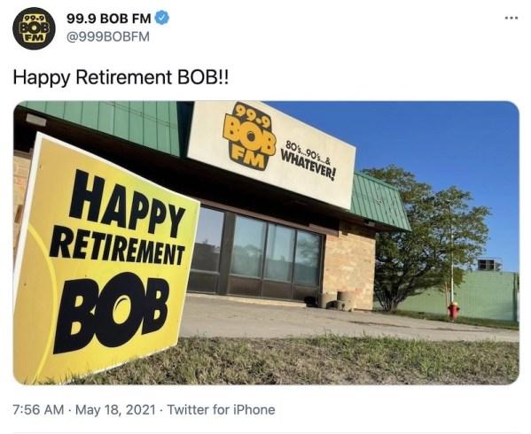 99.9 BOB FM Retirement