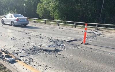 Heat Causes Concrete Damage on Chief Peguis Trail