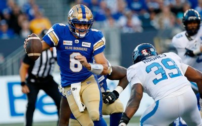 Rasheed Bailey Catches First CFL Touchdown, Bombers Beat Argos 20-7