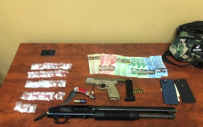 Drugs, Weapons Seized from Vehicle on Fisher River Cree Nation