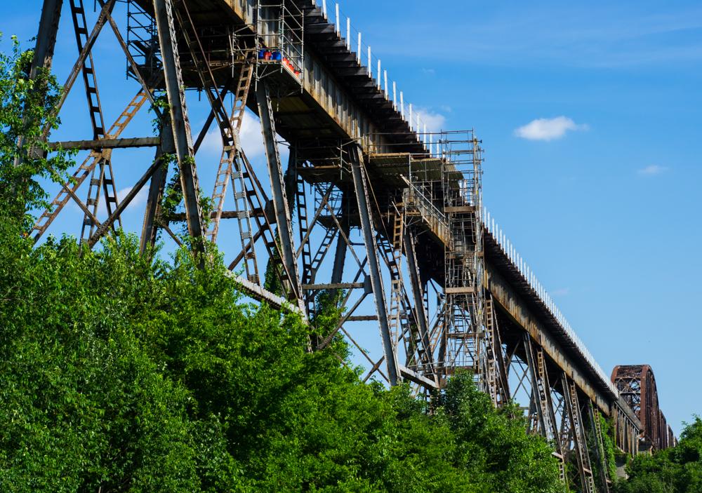 Shelby Bottoms Train Bridge