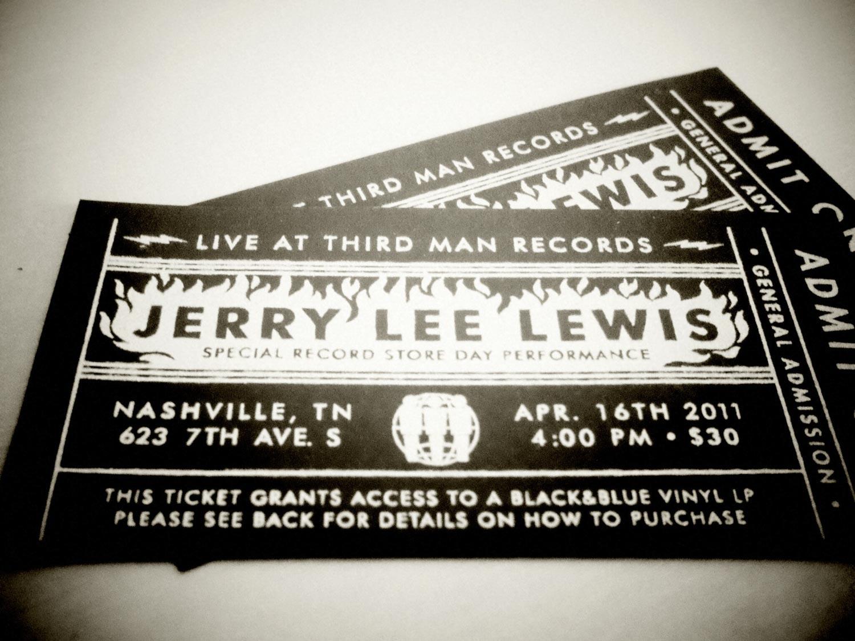 Jerry Lee Lewis Third Man Records Nashville