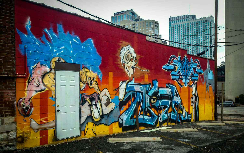 Nashville Downtown Graffiti