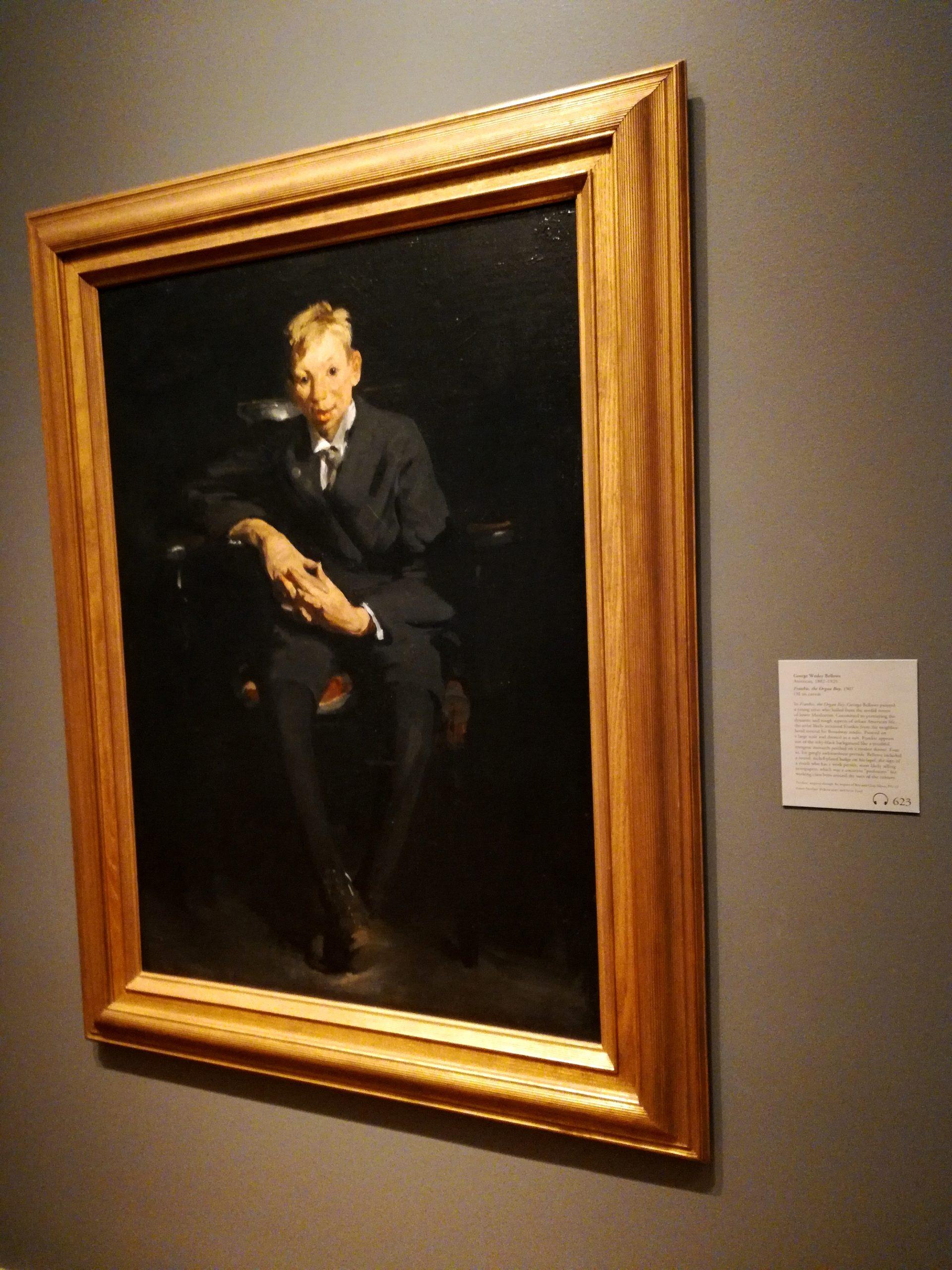 George Wesley Bellows Frankie the Organ Boy Nelson-Atkins Museum of Art Kansas City KCMO