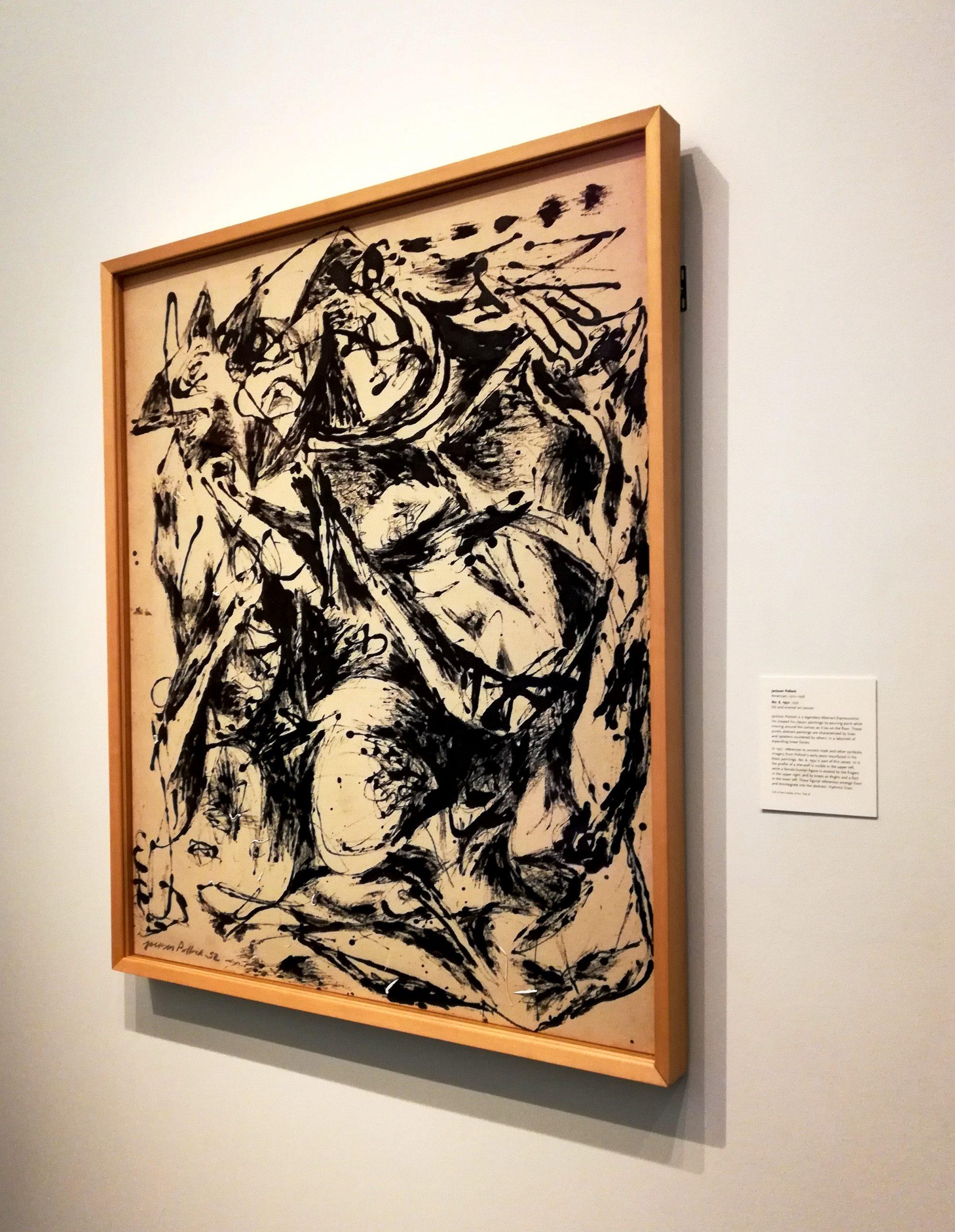 Jackson Pollock Black and White Number 6 Nelson-Atkins Museum of Art Kansas City KCMO