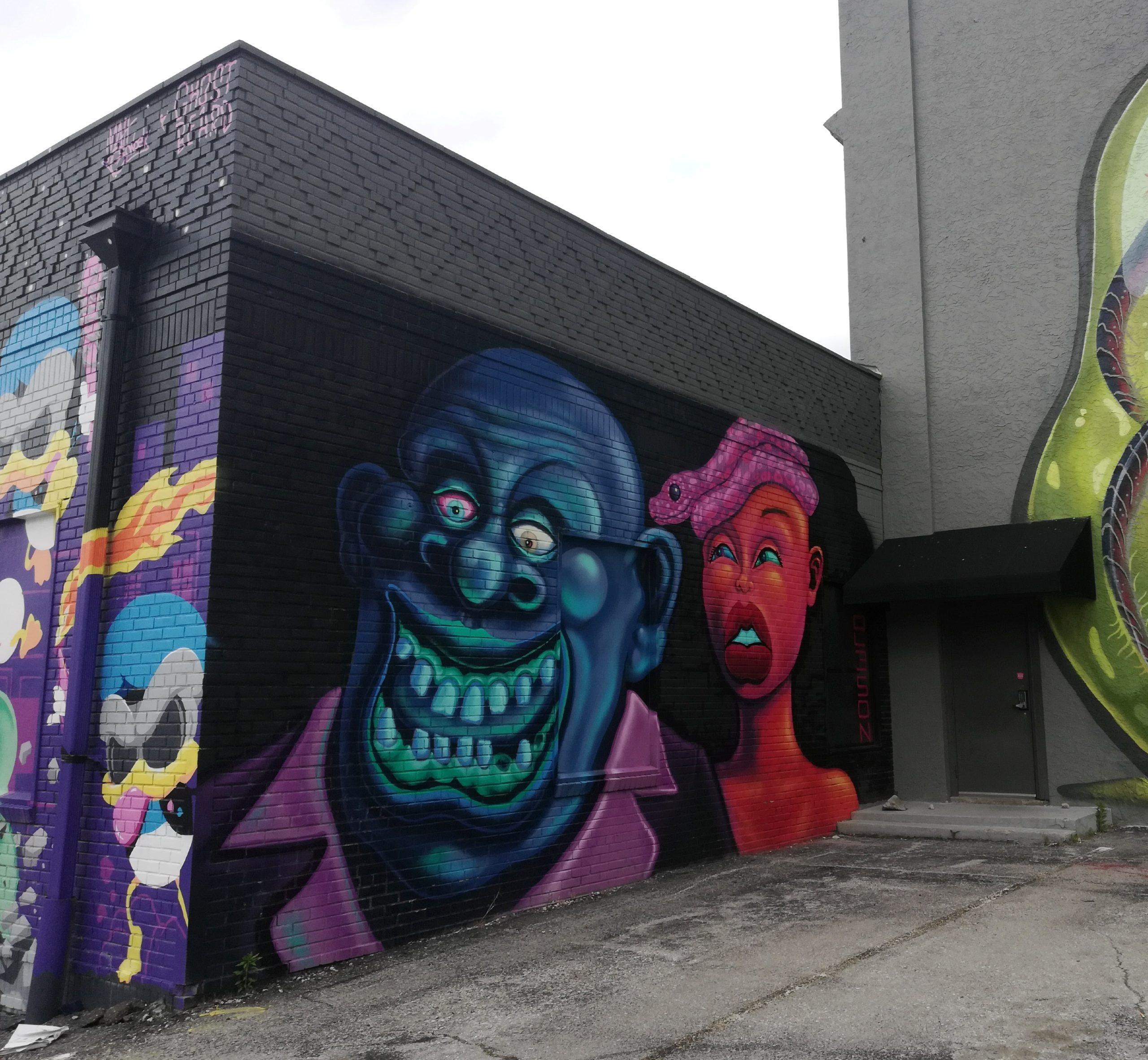 Jazz Caricatures Graffiti Kansas City Street Art KCMO