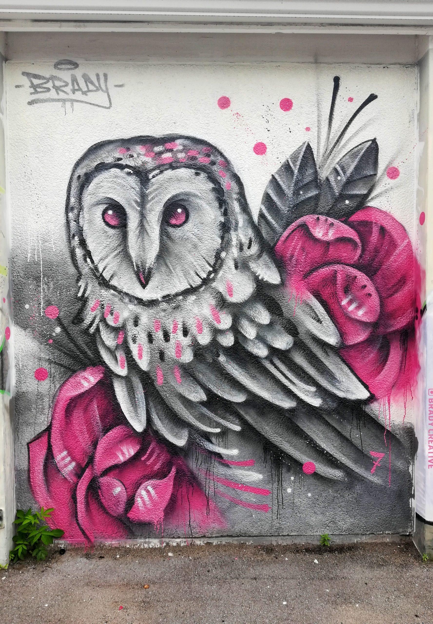 Owl Brady Graffiti Kansas City Street Art KCMO