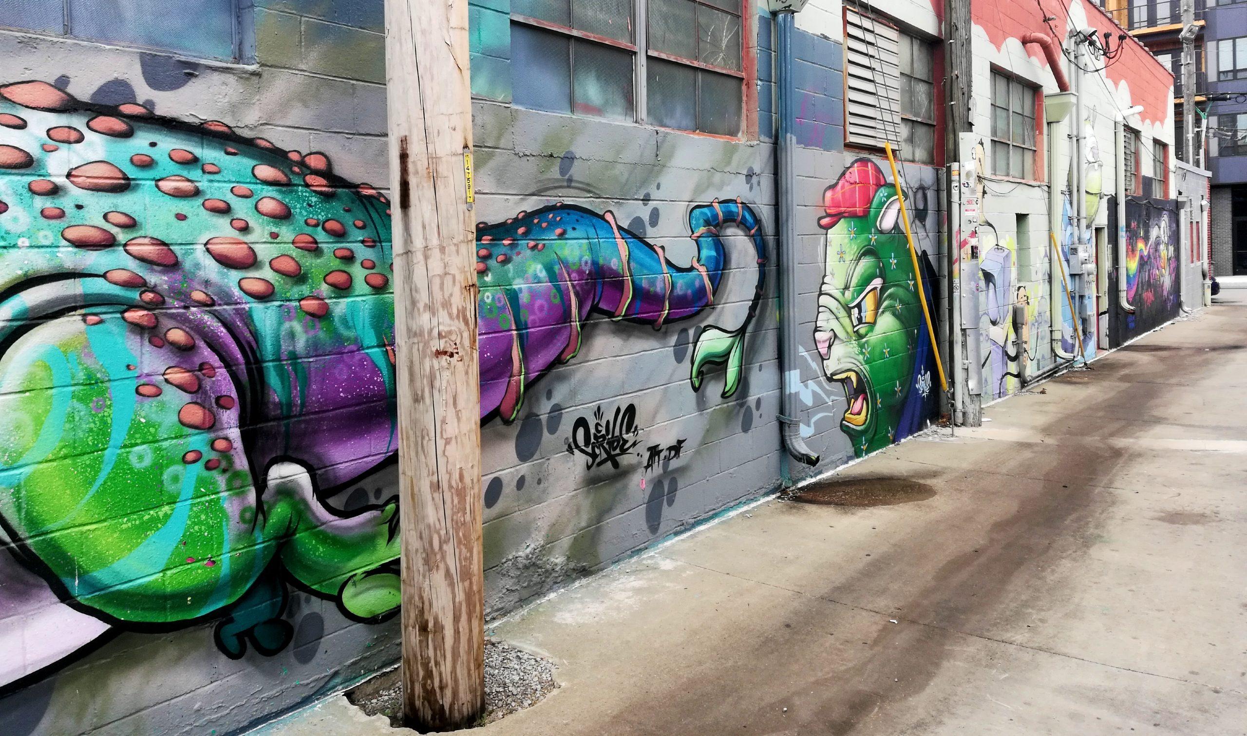 Scribe Alligator Wall Graffiti Kansas City Street Art KCMO